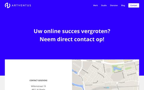 Screenshot of Contact Page artventus.nl - Contact - Artventus - captured Dec. 26, 2015