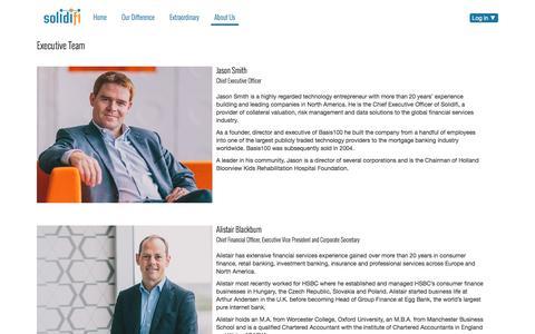 Screenshot of Team Page solidifi.com - Leadership  | Solidifi - captured Dec. 1, 2016