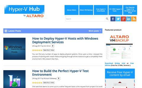 Hyper-V Hub - Altaro's Microsoft Hyper-V blog -