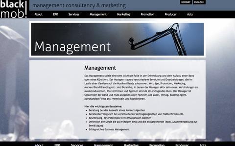 Screenshot of Team Page blackmob.de - Management | black mob | blackmob - captured Jan. 4, 2017
