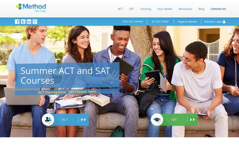 Screenshot of Home Page methodtestprep.com - SAT & ACT Prep Solutions | Method Test Prep - captured Aug. 10, 2016