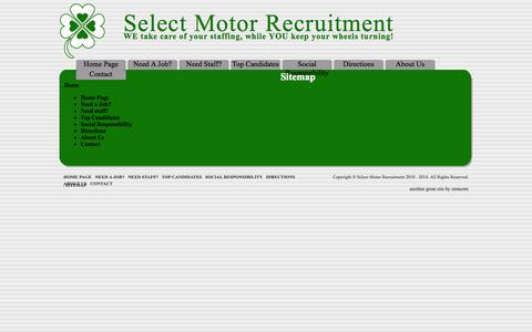 Screenshot of Site Map Page selectmotor.co.za - Sitemap - captured Oct. 4, 2014