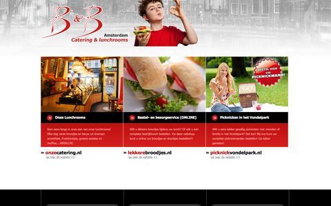Screenshot of Home Page lekkerebroodjes.nl - LekkereBroodjes.nl - B&B Lunchrooms & Catering te Amsterdam - captured Sept. 26, 2015