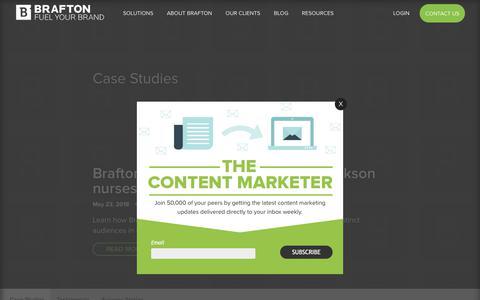 Screenshot of Case Studies Page brafton.com - Case Studies - Brafton - captured May 24, 2018