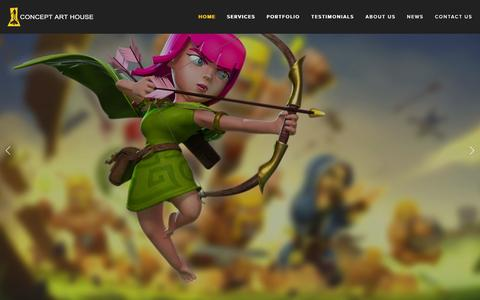 Screenshot of Home Page conceptarthouse.com - Concept Art House | Game Art Outsourcing - captured Dec. 10, 2015