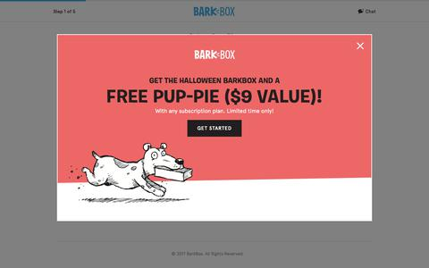 Screenshot of Signup Page barkbox.com - Subscribe to BarkBox Plans | BarkBox - captured Oct. 12, 2017
