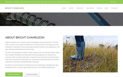 Screenshot of About Page brightchameleon.com - Bright Chameleon - About Us | Website Design and Development in Thurrock Essex, Web Software, SEO, Logo Design, Social Media and Consultancy. - captured June 3, 2017