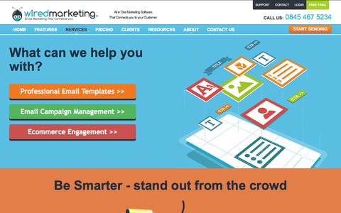 Screenshot of Services Page wiredmarketing.co.uk - Email Templates | Email Marketing | Email Campaign Management | Ecommerce Engagement - captured Oct. 26, 2014