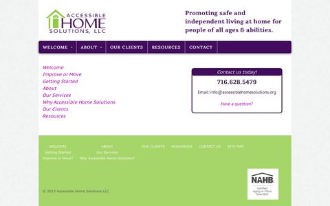 Screenshot of Site Map Page accessiblehomesolutions.org - Site Map - Accessible Home Solutions - captured Oct. 4, 2014