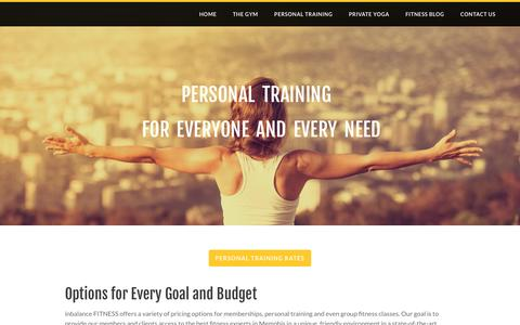 Screenshot of Pricing Page inbalancefitness.com - Pricing | Gyms in Memphis | inbalance FITNESS - inbalance fitness training - captured Jan. 8, 2016