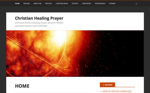 Screenshot of Home Page christian-healing-prayer.net - Christian Healing I Healing Through Prayer - captured Oct. 11, 2015