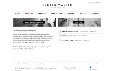 Screenshot of About Page hudsonwalker.com - About Hudson Walker | Specialist Recruitment Agency London - captured Sept. 17, 2017