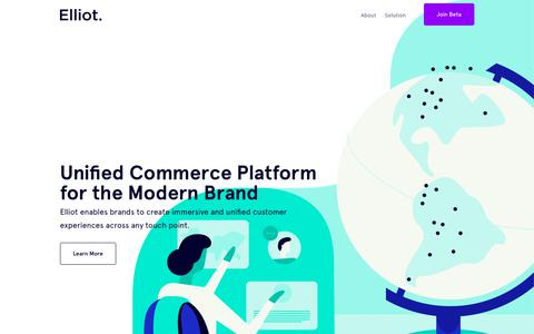Screenshot of Home Page elliot.store - Elliot - Unified Commerce Platform for the Modern Brand - elliot.store - captured Nov. 2, 2018