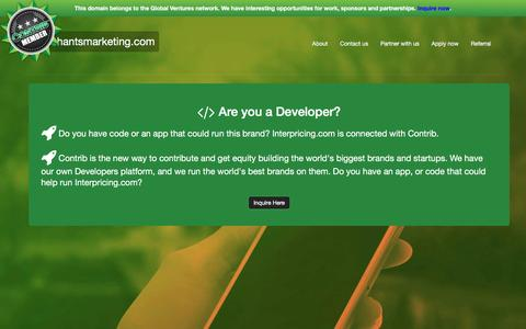Screenshot of Developers Page merchantsmarketing.com - Merchantsmarketing.com - captured March 3, 2016