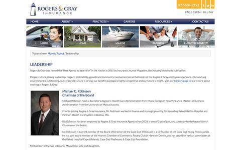 Screenshot of Team Page rogersgray.com - Rogers & Gray Principals | Massachusetts Insurance Agency - captured Jan. 24, 2017