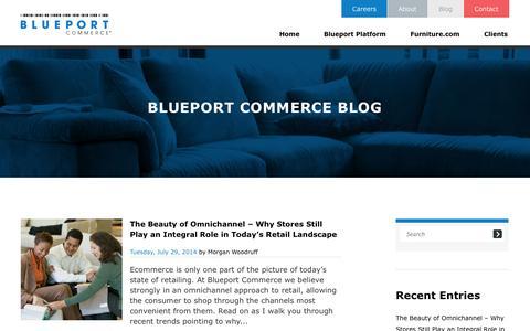 Screenshot of Blog blueport.com - Ecommerce Blog of Blueport Commerce, Big Ticket Ecommerce Solutions Provider - captured Sept. 23, 2014
