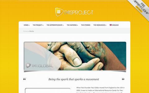 Screenshot of Press Page paisproject.com - Media   Pais Project - captured Sept. 27, 2014
