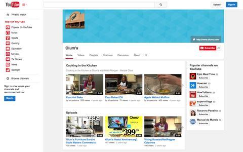 Screenshot of YouTube Page youtube.com - Olum's  - YouTube - captured Nov. 4, 2014