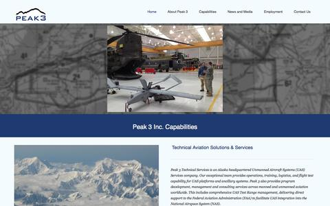 Screenshot of Home Page peak3inc.com - Peak 3 - captured Jan. 18, 2015