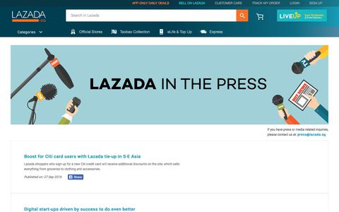 Lazada News and Customer Reviews | Press | Lazada Singapore