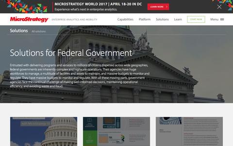 Analytics and Data Solutions for Federal Government | MicroStrategy