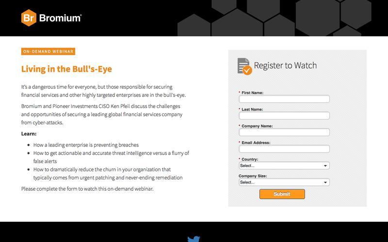 Bromium: Webinar On-Demand - Living in the Bull's-Eye