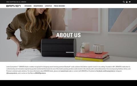Screenshot of About Page braven.com - BRAVEN   About Us - captured Aug. 1, 2018