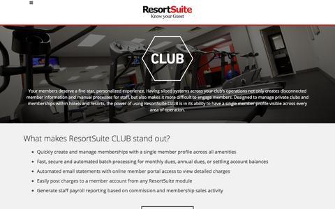 Club Membership Management Software  | ResortSuite