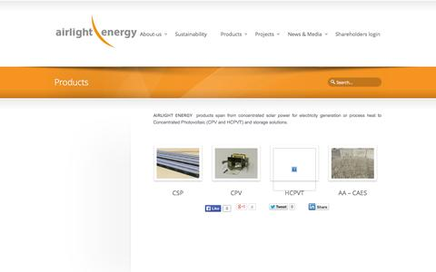 Screenshot of Products Page airlightenergy.com - Products | AIRLIGHT ENERGY - captured Oct. 4, 2014