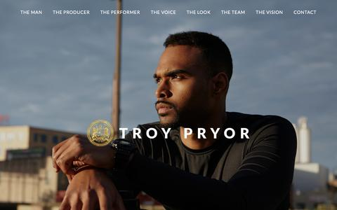 Screenshot of Home Page troypryor.com captured Jan. 30, 2017