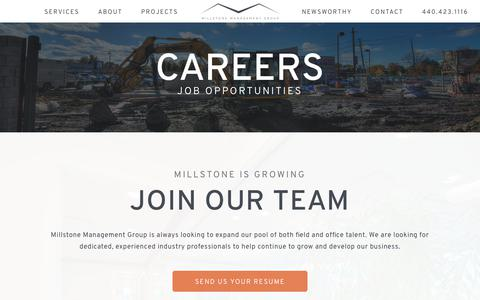 Screenshot of Jobs Page millstonemgmtgroup.com - Careers | Millstone Management Group - captured Oct. 18, 2018