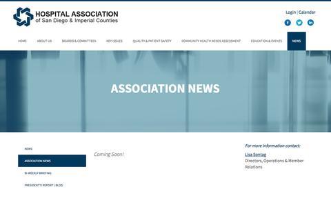 Screenshot of Press Page hasdic.org - Association News | HASDIC - captured Nov. 12, 2016