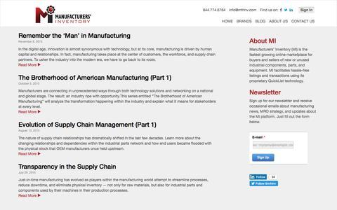 Screenshot of Blog manufacturersinventory.com - Blog - Manufacturers' Inventory - captured July 23, 2016