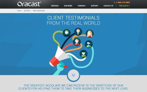 Screenshot of Developers Page oracast.com - Client Testimonials & Reviews | Oracast - captured Nov. 11, 2016