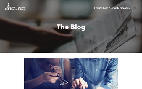 Screenshot of Blog investottawa.ca - The Blog   Invest Ottawa - captured Oct. 18, 2019