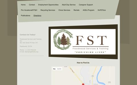 Screenshot of Maps & Directions Page fst2b.org - Floodwood Services and Training Inc. - Directions - captured Nov. 25, 2016