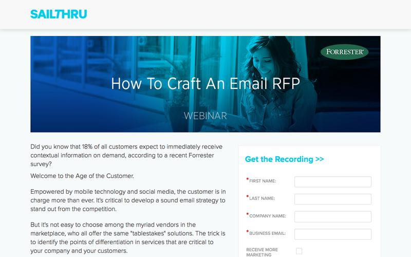 Sailthru + Forrester Present: How to Craft an Email RFP