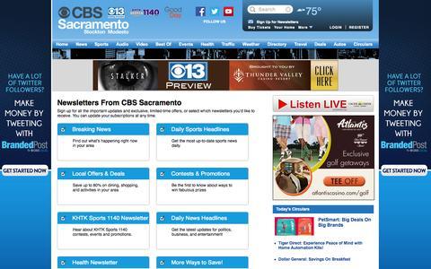 Screenshot of Signup Page cbslocal.com - CBS Sacramento - captured Sept. 19, 2014