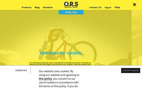 Screenshot of Blog ors.uk.com - Blog - O.R.S Hydration Tablets - captured July 4, 2018