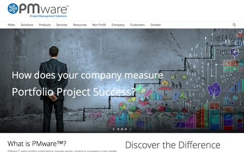 Screenshot of Home Page mypmware.com - PMware | Enterprise Project & Portfolio Management - captured Oct. 6, 2014