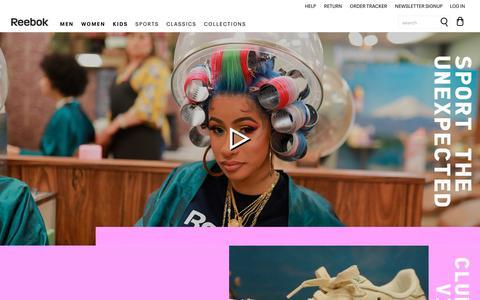 Screenshot of Home Page reebok.ie - Official Reebok Online Shop   Reebok IE - captured July 17, 2019