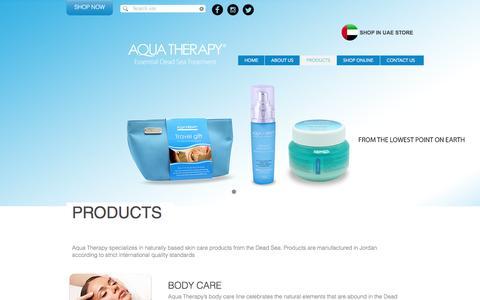 Screenshot of Products Page aquadeadsea.com - Aqua Therapy Products - captured Nov. 21, 2016