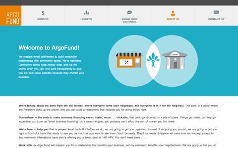 Screenshot of About Page argofund.com - ABOUT US | ArgoFund - captured Oct. 27, 2014