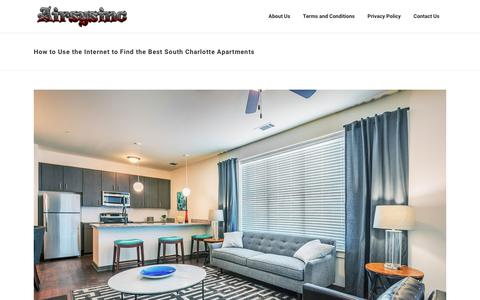 Screenshot of Home Page airsysinc.com - How to Use the Internet to Find the Best South Charlotte Apartments | - captured Sept. 25, 2018