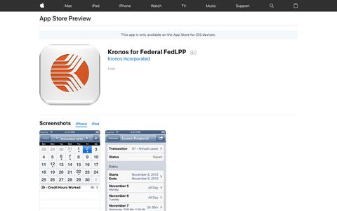 Kronos for Federal FedLPP on the App Store