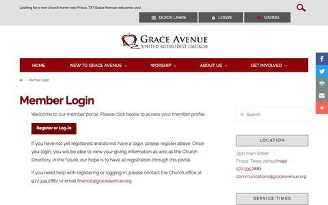Screenshot of Login Page graceavenue.org - Member Login - Grace Avenue United Methodist Church - captured Sept. 9, 2017