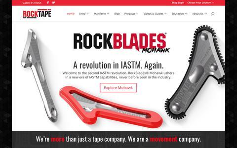 Screenshot of Home Page rocktape.com - Go stronger, longer. - RockTape - captured Nov. 10, 2017