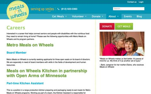 Screenshot of Jobs Page meals-on-wheels.com - Careers - Meals on Wheels - captured Oct. 18, 2018
