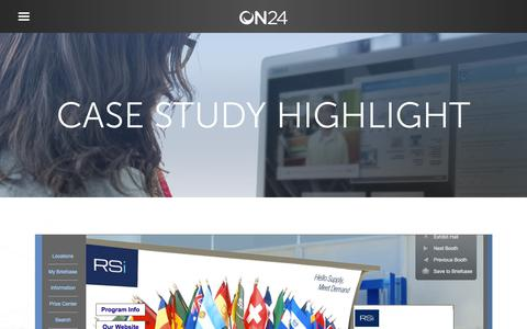 Screenshot of Case Studies Page on24.com - Retail Solutions Inc.   Virtual Communications Program   ON24 - captured Oct. 12, 2017