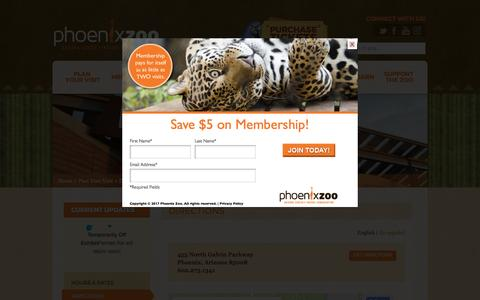 Screenshot of Maps & Directions Page phoenixzoo.org - Directions - Phoenix Zoo - captured April 15, 2017